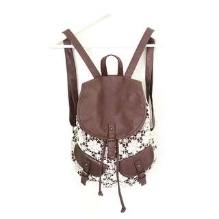 Lace Drawstrings Backpack