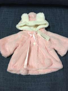 NWT Baby Fluffy rabbit Outerwear