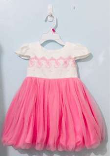White and Pink Tutu Dress (with embroidery)
