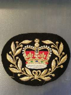 Embroidered British army Warrant Officer Class 2 (WO2) Rank Badge for the Household Cavalry.