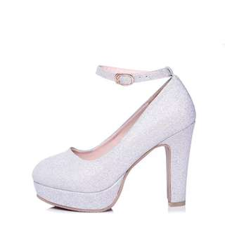 Bride high heel in Silver grey