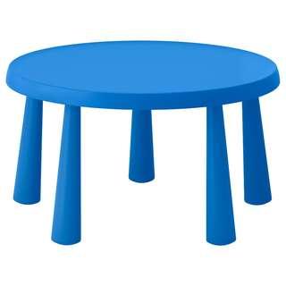 IKEA MAMMUT Children's table, in/outdoor blue