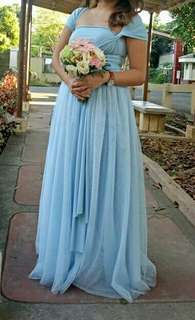 Infinity gown with tulle