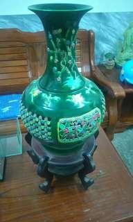 2000含運〰古董造型花瓶〰含底座〰 含底座高75公分〰寬35公分〰