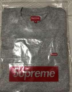 Supreme 18SS Small Box Logo Tee Grey Size M