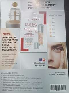 Rimmel Lasting Finish 25h Breathable Foundation Sample
