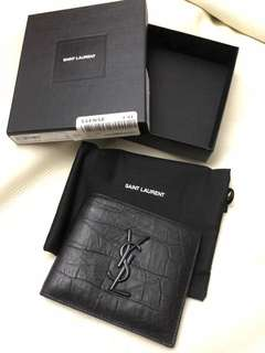 YSL Wallet croc matte saint laurent 銀包 真皮 鱷魚皮紋