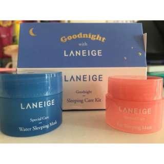 (FREE POS)LANEIGE Sleeping Care Kit - 2pcs in a box