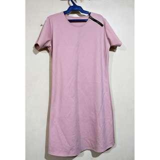 Pink Shirt Dress w/ Zipper detail