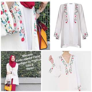 POPLOOK Macayla Embroidered Floral Cardigan