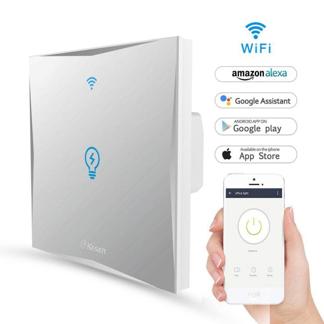442. Smart Light Switch,WIFI Light Switches Wall Work With Amazon ...