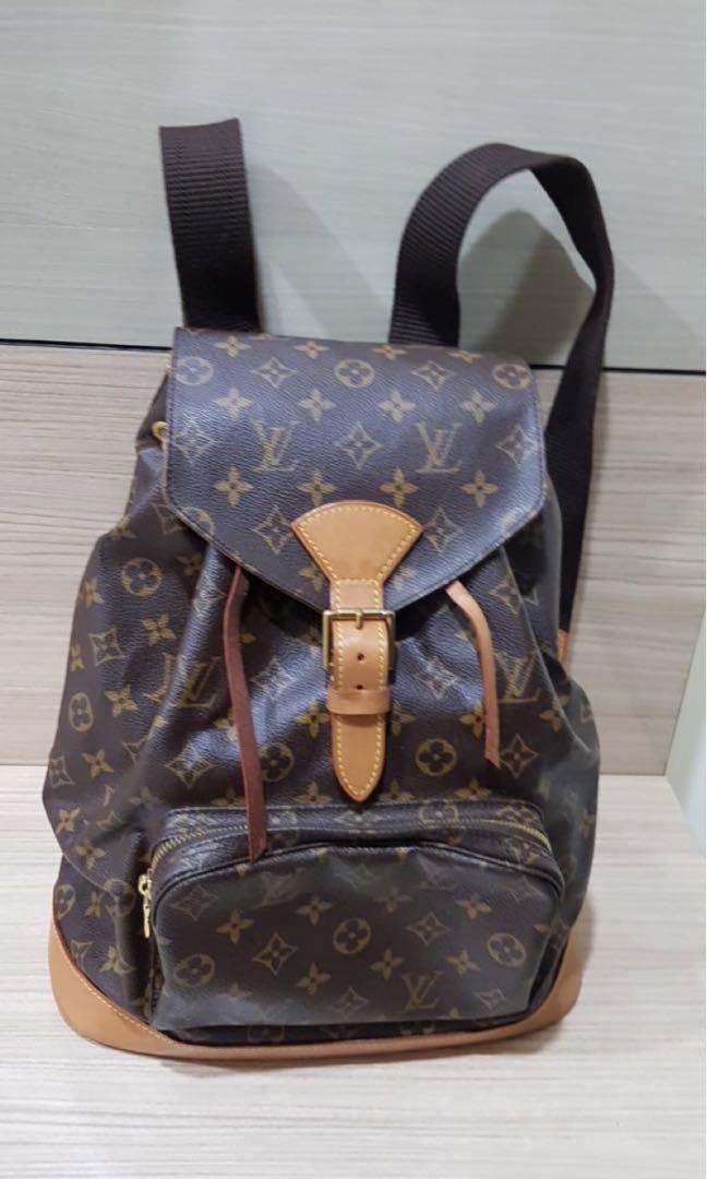 6b6e978650d2 💯% Authentic Louis Vuitton Montsouris GM Backpack Monogram M51135  Vintage  Collection