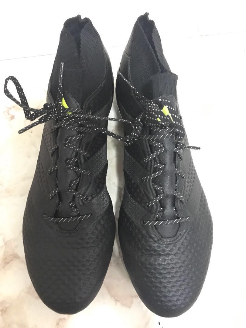 on sale 8c3d8 1ba40 Adidas Ace 16.1 Primeknit FG/AG Core Black/Solar Yellow ...