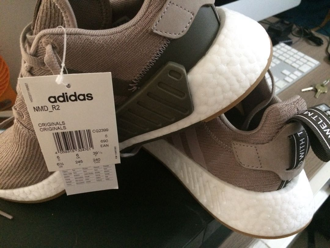 new style d7572 1accc Adidas NMD R2 beige UK6, US6.5, Men s Fashion, Footwear, Slippers ...