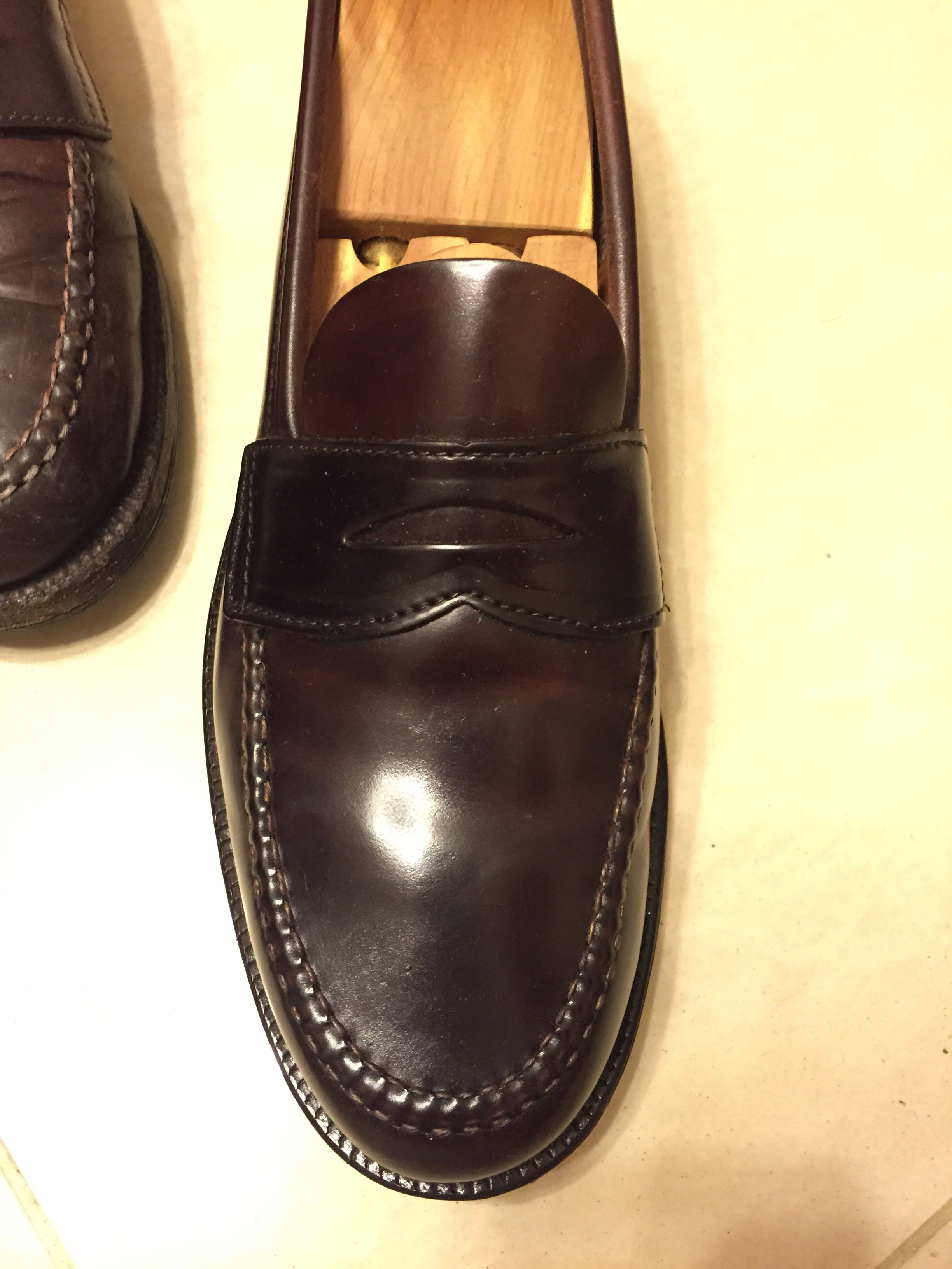 6f5c42a10b5f7 Alden for Brooks Brothers color 8 Shell Cordovan tassel penny loafer ...