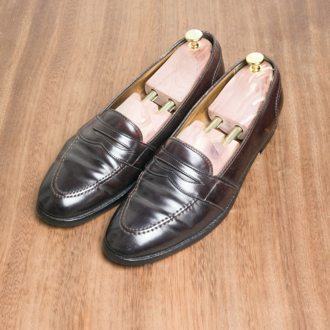 9ef36c7505 Alden Shell Cordovan Penny Loafers Size 12