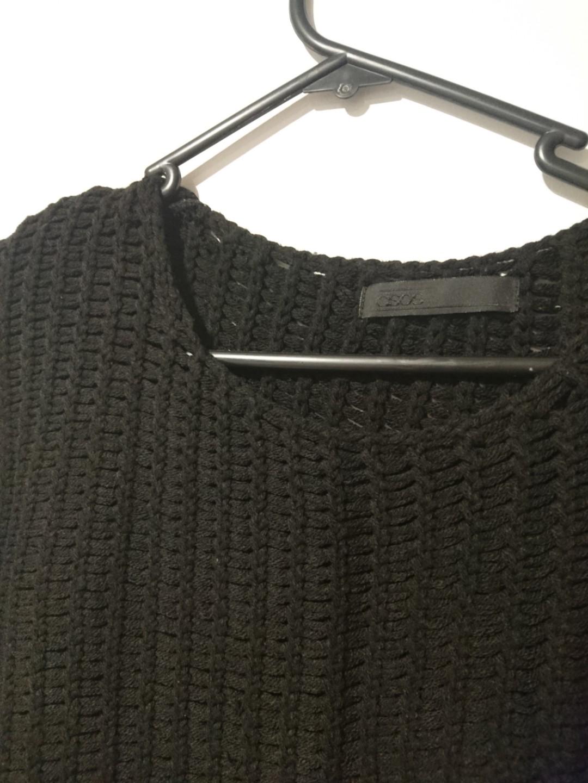Asos black chunky knit