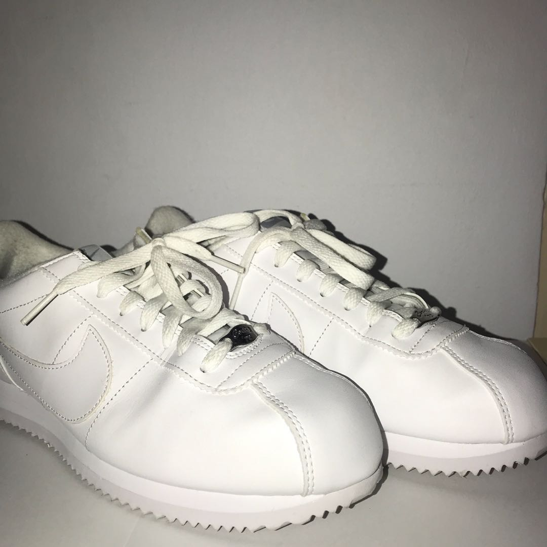 Authentic Nike Cortez All White Leather Sneakers Men S Fashion