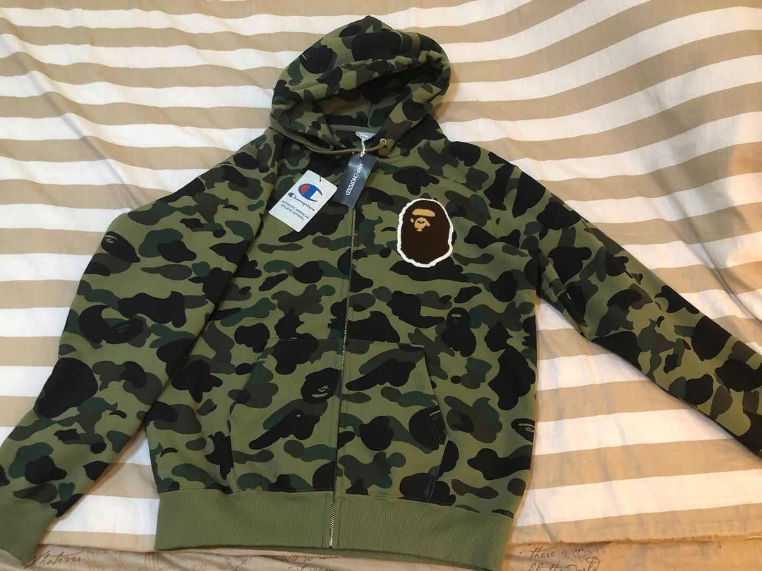 cadc84f65196 BAPE X Champion Cameo Zip hoodie (In store release only)