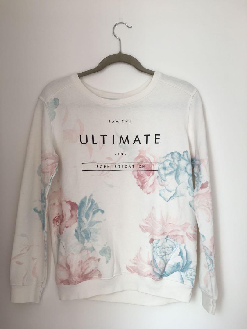 f2666557c9e Bershka Floral Sweater