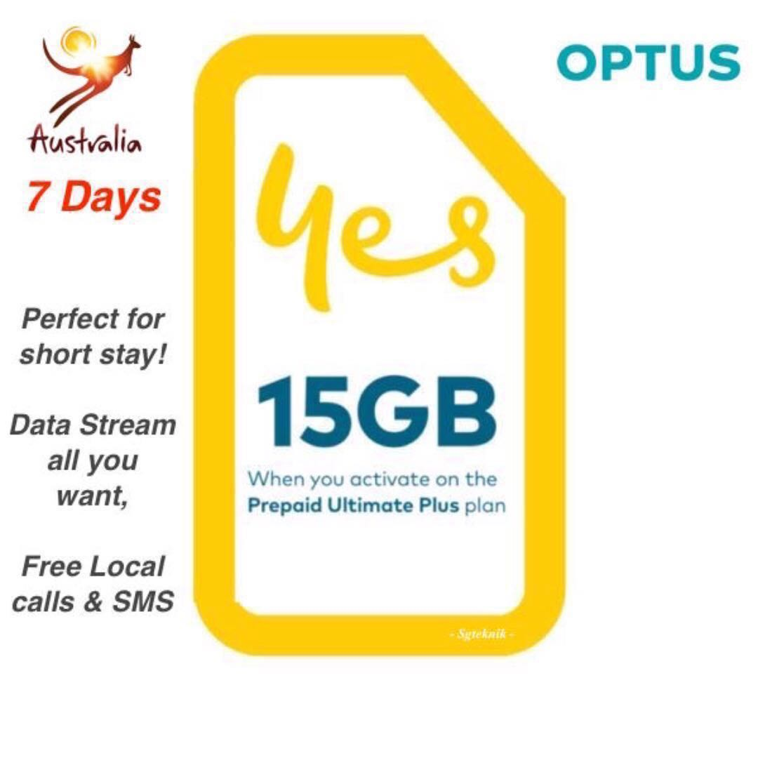 Best Value 15GB AUS Australia Prepaid SIM Card 7d Starter