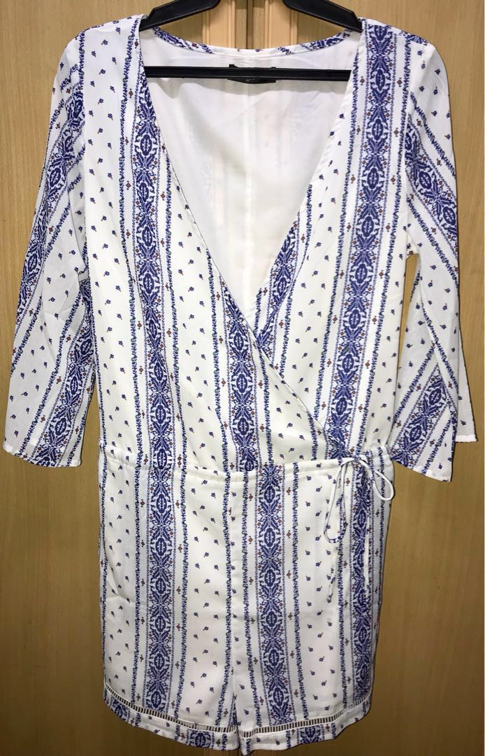 73dff1c597df Boho Summer Wrap Romper  Jumpsuit