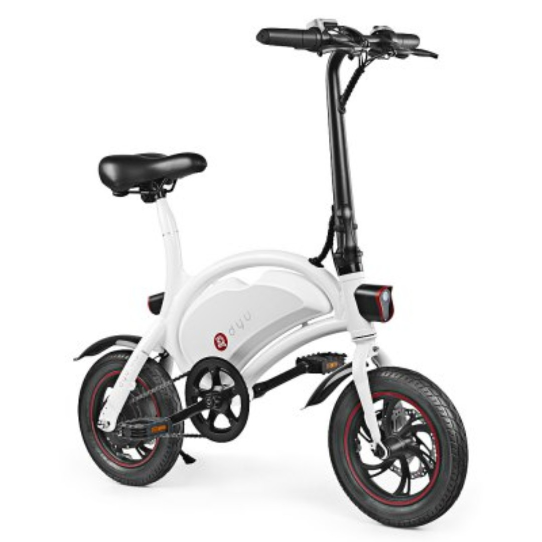 4abf9b4a96f DYU D2 Folding Electric Bike 12 inch Wheels 7.5 Ah Battery - WHITE, Bicycles  & PMDs, Personal Mobility Devices, E-Scooters on Carousell