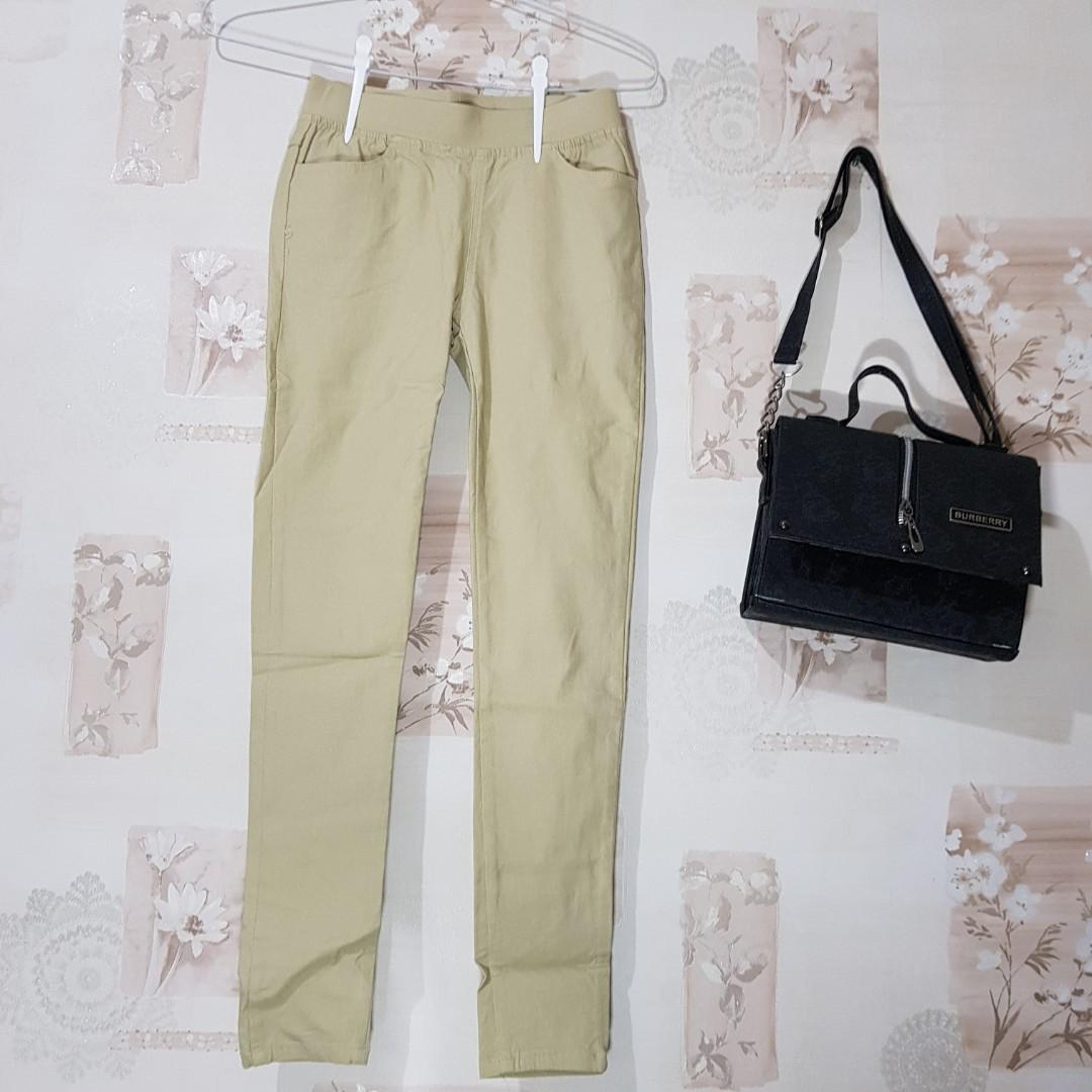 Import Taiwan Celana Panjang Wanita Legging Jeans Bawahan Perempuan Woman Pants Cokelat Warna Kulit Muda Khaki Cream Fesyen Wanita Pakaian Wanita Di Carousell