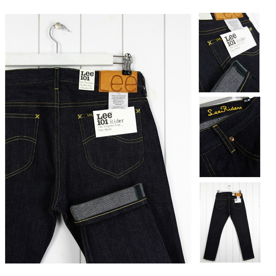 1e54b88b LEE 101 RIDER 12oz JEANS DRY/RAW SELVAGE DENIM, Men's Fashion, Clothes,  Bottoms on Carousell