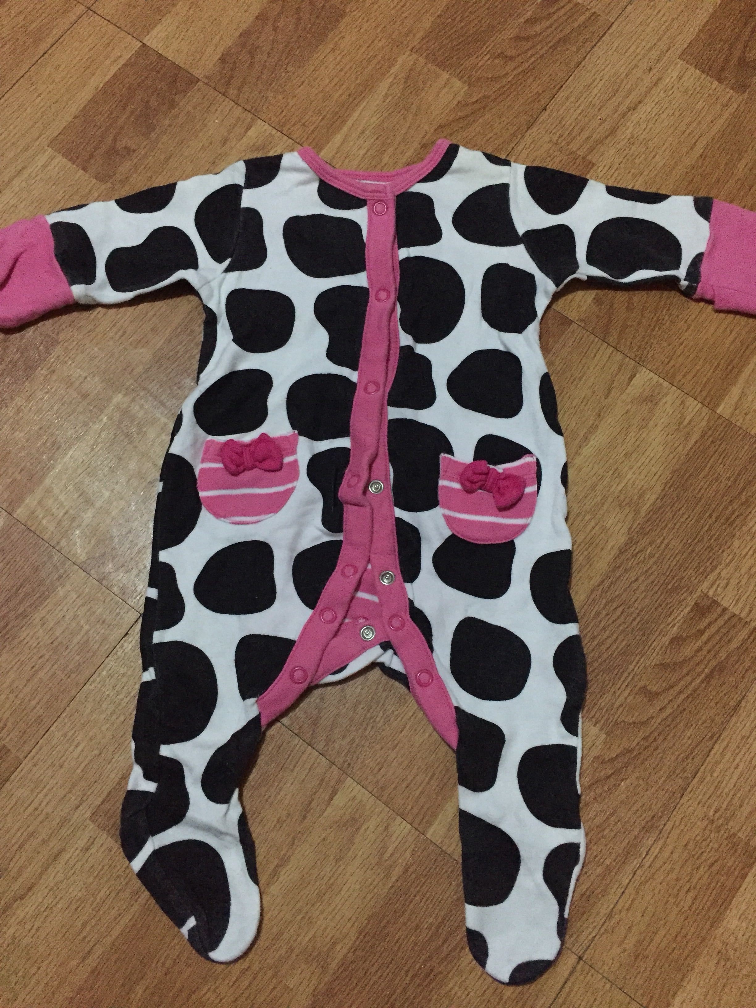 f43fa31d1bc9 Mothercare Pink cow long sleeves onesies