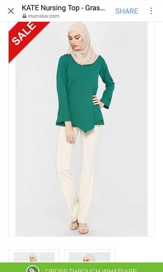 9eb45766f87b9 Mumsluv Kate Nursing Blouse/Baju Menyusu (Green) M Size, Fesyen Wanita,  Pakaian, Tops di Carousell