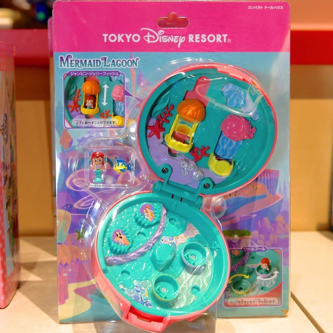 Polly Pocket Tokyo Disney Exclusive Ariel Mermaid Playset Compact Toy