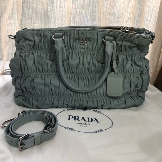 dbe2ba2a5129ad Reduced! PRADA NAPPA GAUFRE LEATHER Shopping TOTE, Luxury, Bags ...