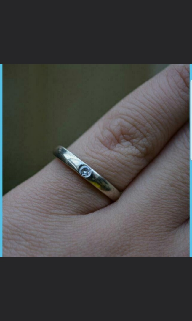 Solid Sterling Silver & Cubic Band Ring