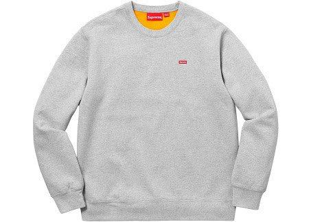 dfc44137af4e11 Supreme Small Box Logo Heather Grey Crewneck