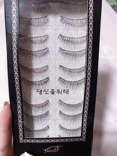 False Eyelashes (10 pairs )+ 1 pair free