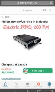 Electric BBQ PHILIPS HD441920