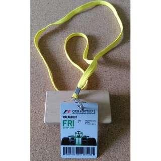 F1 2009 Ticket Pass