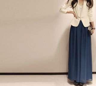 Korean high waist chiffon palazzo
