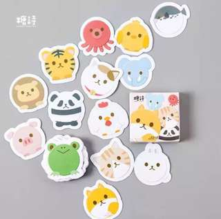 [Stickers] #30 Roly Poly Animal Stickers for diary and scrapbooking