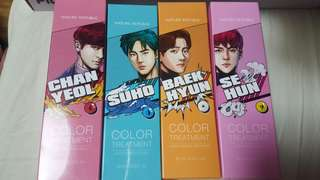 Exo natural republic hair coloring treatment/pcs