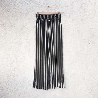 Striped Stretchable Chiffon Pants
