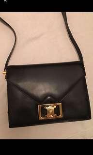 Vintage Celine C logo handbag 中古袋 類似 Hermes vintage