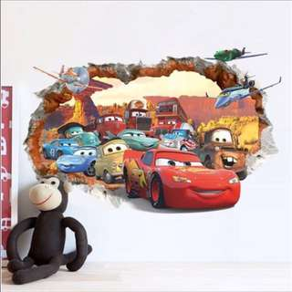 3D Pixar Cars Wall Decal Sticker 70X50cm