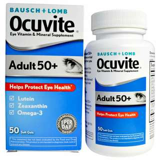 TWIN PACK BAUSCH + LOMB OCUVITE ADULT 50+