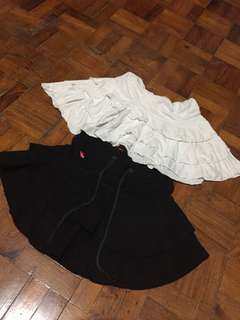 Bundle Mini Skirts (2 pieces - black and white)