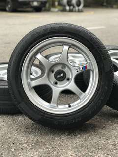Ssr type c 15 inch sports rim saga flx tyre 70%. *below market price mora mora*