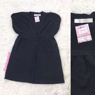 VL5325 BYSI black knit button front cardigan top