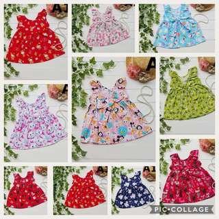 Girls Dress baby toddler kids clothes tsum tsum hello kitty