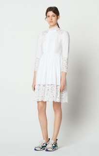 Sandro paris 🌸 Cotton Dress with Lace Insets